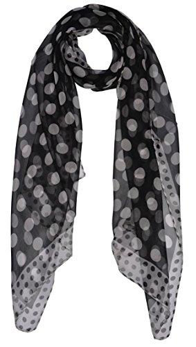 WhiteDots-Elegant-lightweight-Fashion-100-Silk-Scarf-Classic-Premium-Shawl-Wrap-Art-Oblong