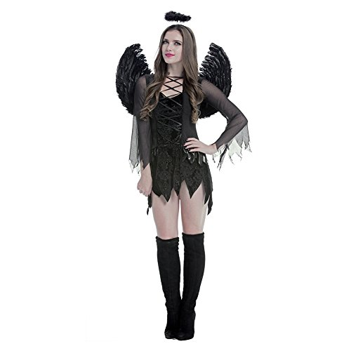 Amurleopard Women's Dark Angel Dress Halloween Costume