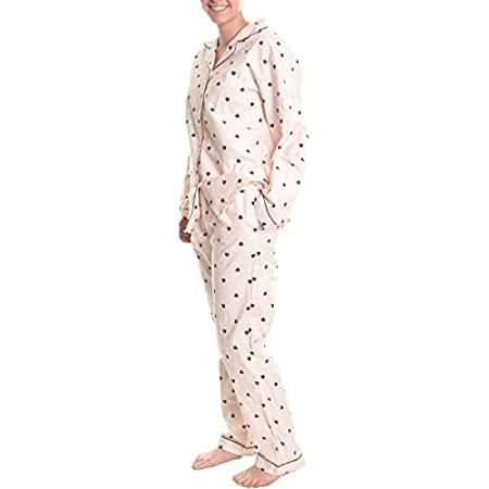 100% Premium Cotton Flannel Two-Piece Pajama Set is ideal for sleeping and lounging at home. There are two deep side seam pockets on both sides of the paints. This pajama set is sized quite generously for maximum comfort. Let the comfort, warmth, and...