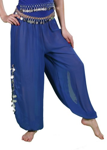 Miss Belly Dance Women's Chiffon Harem Pants with Side Slits | Maiden Dance