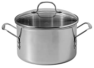 Calphalon Tri-Ply Stainless-Steel 8-Quart Stockpot with Glass Lid