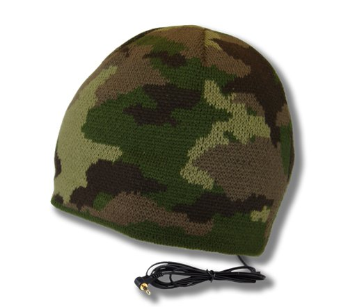 Tooks Brigade Headphone Hat With Built-In Removable Headphones - Color: Woodlands