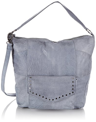 PIECES PCJAKARTA LEATHER BAG, Borsa a spalla donna, Blu (Blau (Faded Denim)), 36x37x10 cm (B x H x T)