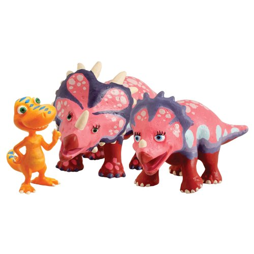 Learning Curve Dinosaur Train Collectible Dinosaur 3 Pack - My Friends Have Spikes: Stephie, Stacie And Buddy
