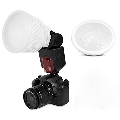 TopOne Universal Cloud lambency flash diffuser + White dome cover and fits all flashes (Flash Cover compare prices)