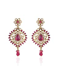 I Jewels Tradtional Gold Plated Elegantly Handcrafted Pair Of Fashion Earrings For Women. - B00N7IN62G