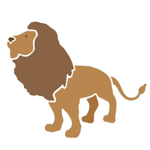 Lion Stencil For Painting A Lion On The Walls Of A Jungle Themed Room front-944221