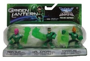 Green Lantern Action League Movies Series Action Figures & Accessories, Includes: Abin Sur, Hal Jordan and Tomar-Re - 1