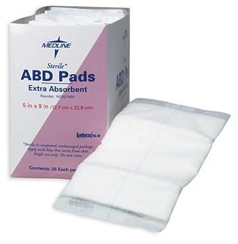 Medline Abdominal (ABD) Non-Sterile 8x7.5 Pads - Case of 576 pads