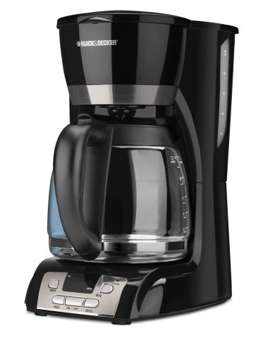 Black & Decker DCM2160B 12-Cup Programmable Coffeemaker, Black www.cafibo.com