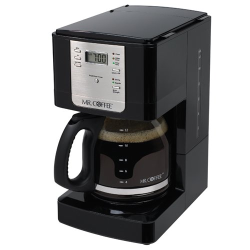Mr. Coffee JWX23 12-Cup Programmable Coffeemaker, Black