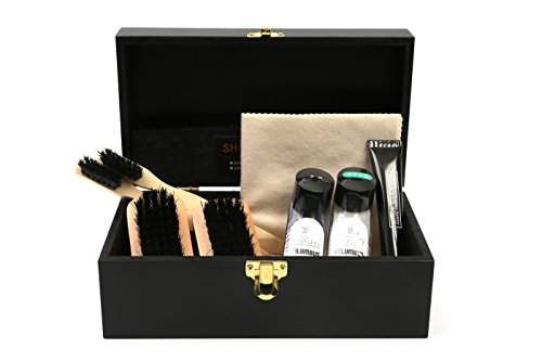 [コロンブス] COLUMBUS ミニリキッドセット3 リキッド2色 木製ケース入り靴みがきセット