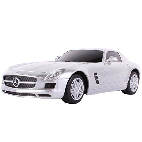 YESURPRISE Modellauto Rastar Spielauto Fernbedienung Auto Car Modell R/C 1:24 Mercedes - Benz SLS AMG 40100 Silber