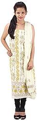 RV's Collection Women's Cotton Unstitched Salwar Suit Piece (Lemon Yellow , RB-15)