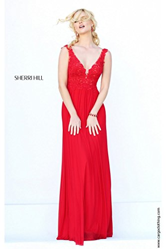 sherri-hill-50255-red-v-neck-embroidered-bodice-gown-uk-14-us-10