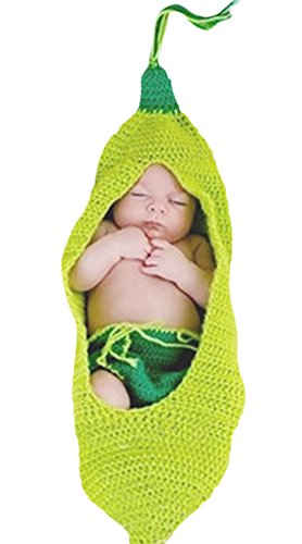 [Unisex Infant Baby Toddlers Halloween Cute Pea Costume Plant (0-6 Months)] (Pea Costumes)