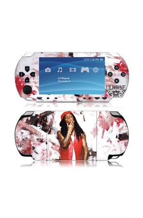 MusicSkins Lil Wayne - Graffiti - Gaming Skins,Accessories for Unisex, Sony PSP 3000,Black