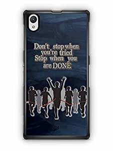 YuBingo Don't Stop when you're Tired. Stop when You're Done Designer Mobile Case Back Cover for Sony Xperia Z1
