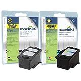 2 Cartouches d'encre compatibles de qualité pour Imprimante Canon Pixma MP230 - Noir / Colour- Haute Capacité