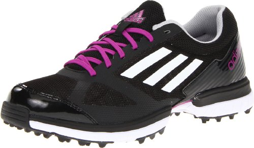 adidas Women's Adizero Sport Golf Shoe,Black/White/Passio,9.5 M US