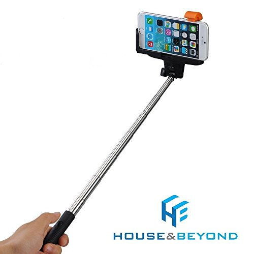 selfie stick bluetooth extendable monopod with built in remote universal. Black Bedroom Furniture Sets. Home Design Ideas