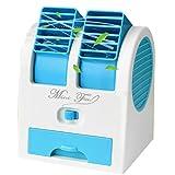 GS.Lee Mini USB Handheld Portable Fan Desktop Air Conditioner Water Cooler, Blue