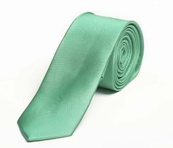 Étroit Cravate de Fabio Farini en vert uni