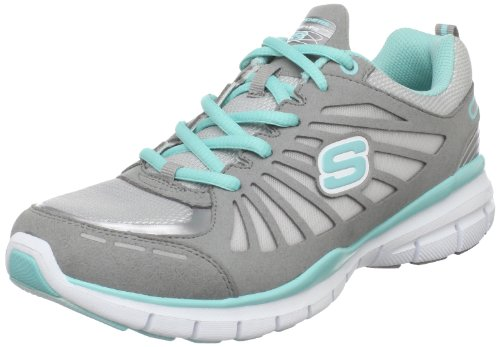 Skechers USA Ltd Women's Tone Ups Run Grey/Aqua Training Shoes 11775 3 UK