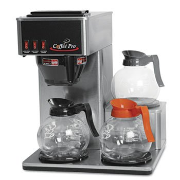 Three-Burner Low Profile Institutional Coffee