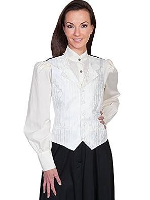 Scully Stripe Vine Vest - Ivory  AT vintagedancer.com