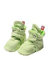 Zutano Baby-Girls Infant Candy Stripe Bootie, Lime, 6 Months