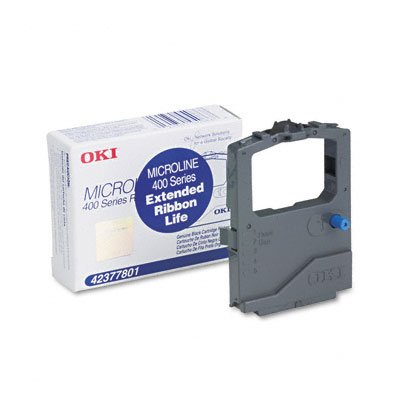 Oki 42377801 Ribbon Black For Microline 420 420N 421 490 491 Printers 7500000 Character Yield