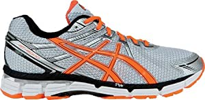 ASICS Men's GT-2000 Running Shoe,White/Safety Orange/Lightning,8 D US