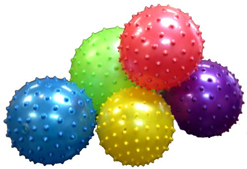 """Knobby Balls - 8"""" Inch Size Party Knobby Bounce Balls-5 Pack front-952004"""