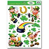 Leprechaun/Shamrock Clings Party Accessory (1 count) (10/Sh)