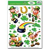 Leprechaun Shamrock Clings Party Accessory (1 count) (10 Sh)