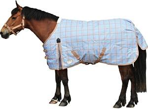 Weatherbeeta Pony Standard Neck Medium Light Blue/latte Plaid - 63