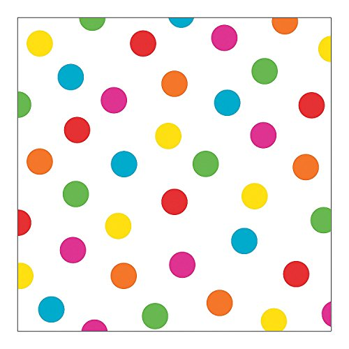 Bright Polka Dot Backdrop Banner ( 6 Ft. X 6 Ft) Plastic.