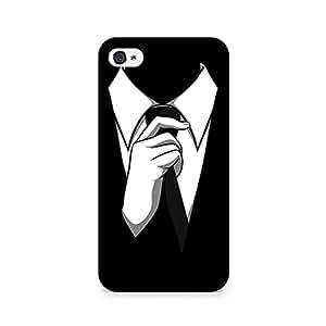 Rubix Customized Designer Hard Back Phone Case of Black Tie for Apple iPhone 4