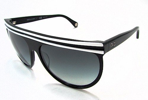 DOLCE & GABBANA D&G 3041 Sunglasses Black/White 1574/8G Shades