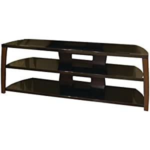 TechCraft Xii60W 60-Inch Wide Flat Panel TV Stand - Walnut Accents