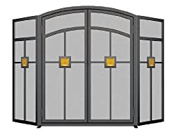 Panacea Products 15137 3-Panel Mission Fireplace Screen by PANACEA PRODUCTS CORP