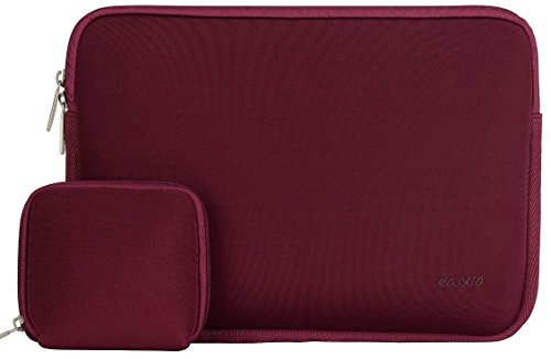 Mosiso - Custodia Borsa / Involucro Sleeve Case per Apple 12,9 iPad Pro e Laptop / Notebook / Computer Portatile / MacBook Pro / MacBook Air da 13-13.3 Pollici, Neoprene resistente all'acqua, Vino Rosso