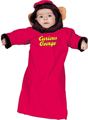 Newborn Curious George Monkey Baby Costume (0-9 Months)