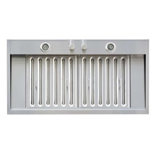 Windster Windster 36W In. Ws-69Ts Series Insert Range Hood, Silver front-550781