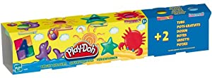 Play Doh - Loisir Créatif - Pâte à Modeler -  4 + 2 Couleurs Vives