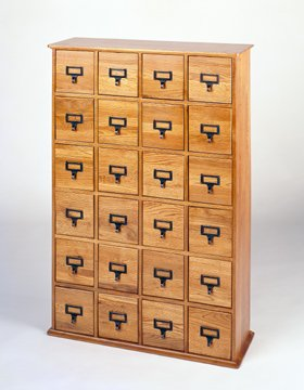 Leslie Dame CD-456 Library Style Cabinet Multimedia Storage