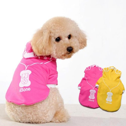 Headphone Cartoon Design Shirt Jacket For Dog'S Fashion Clothing & Pet Supplies Apparel Small-Color Pink