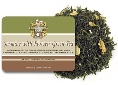 Jasmine With Flowers Green Tea - Loose Leaf - 16Oz