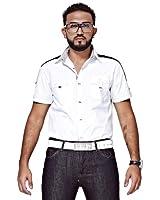 Mfaz - Chemise Unie - Couleur : Blanc